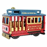 (47 7/18) CM San Francisco Toy Cable Car Rolls With Copyrighted California Bear Magnet