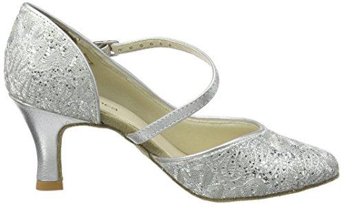 So Danca Damen Standard & Latein Tanzschuhe – Standard & Latein Bl504, Silber (Silver Sparkle), 41.5 EU (11 US) - 6