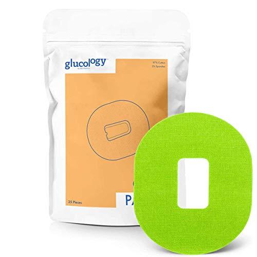 Glucology - Dexcom G4 G5 CGM Pflaster Grun | 25er-Pack | Wasserfestes flexibles Klebepflaster für Diabetes CGM