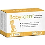 BabyFORTE® Vitamine Gravidanza & Allattamento Integratore - 60 Capsule - acido folico + 17 Nutrienti - Omega 3 DHA EPA - Made in Germany