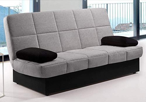 CAMBIA TUS MUEBLES - Sofa Cama ARC Clic clac desenfundable con arcón 2 plazas 100 X 290 cm (Gris Claro)