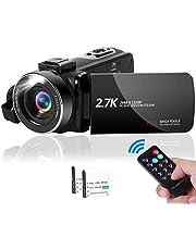 ビデオカメラ 2.7K YouTubeカメラ vlogカメラ 1080P&60FPS 4200万画素数 3.0インチの270度回転スクリーン LEDフィルライト 一時停止 Webカメラ 予備バッテリー 日本語説明書