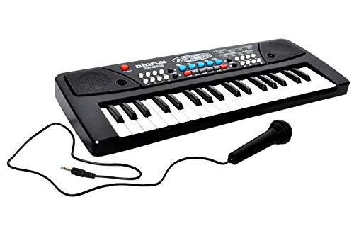 WON 37 Key Piano Keyboard Toy with Mic Dc Power Option Recording for Boys and Girls