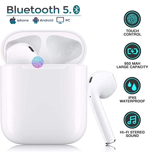 Wireless Earbuds,True Bluetooth Headphones Bluetooth 5.0 Headsets Auto...