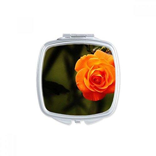 DIYthinker Rose foncé Roses Dim Flower Place Makeup Compact Miroir de Poche Miroirs Mignon Petit Cadeau Portable à la Main Multicolor
