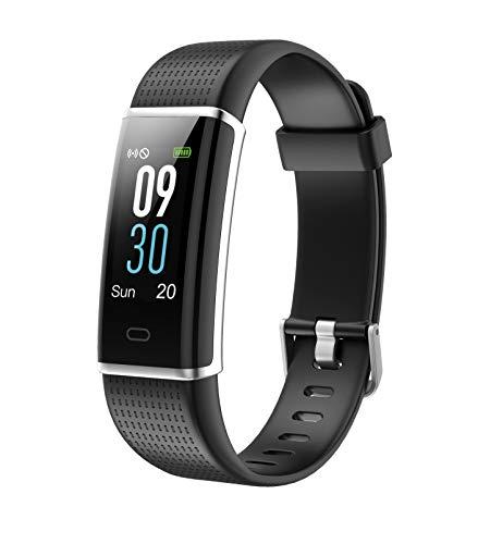 Sunstech - FITLIFE HR Pulsera de Actividad Deportiva Smartband Impermeable con función pulsómetro y podómetro, con A-GPS. Compatible a Android y iPhone. Color Negro.