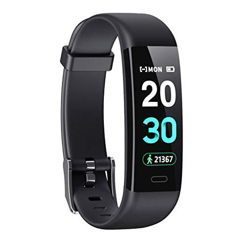 Monitores de actividad Pantalla color Ajustes del reloj, la presión arterial, oxígeno arterial, frecuencia cardíaca, Hombres Mujeres, rastreador de ejercicios podómetro a prueba de agua, de Apple Comp