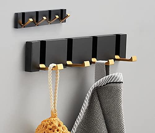 Deshop 2 ganchos autoadhesivos, para colgar en la pared, sin agujeros de perforación, baño, cocina, dormitorio, armario (cuatro ganchos)