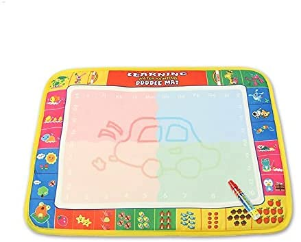 Water Drawing Mat Aqua Magic Doodle Mats Doodle Board Water Paint Pad Educational Toys Travel Toy for Toddlers Sketch Pad for Kids Magic Canvas Reusable No Mess Environmental,Size:15X11.5inches