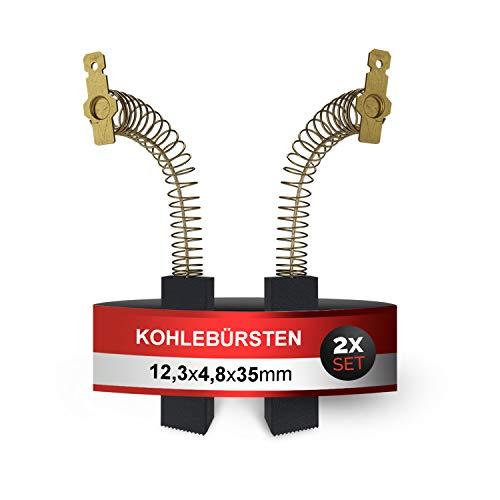 Kohlebürsten 2Stk Kohlen Ersatz für Indesit C00311761 Whirlpool 481236248434 Bosch 00154740 12,3x4,8x35mm Motorkohlen Zubehör für Motor Waschmaschine Waschtrockner
