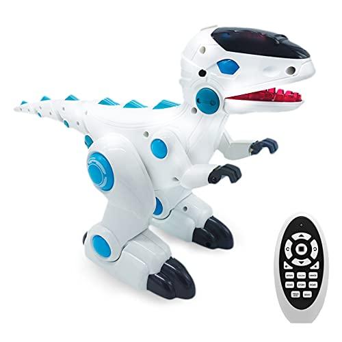 JUGUETECNIC │ Robosaur, el Robot Dinosaurio teledirigido | con Humo y Luces! │ Robot Juguete para Niños Programable con Mando Distancia | Mascota Interactiva Radiocontrol