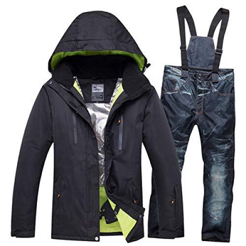JSGJHXFSet skipak heren dames jassen sport outdoor snowboard pak kleding waterdicht winddicht -30 warme pak broek