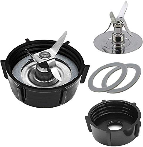 490261 Replacement Parts for Os-ter & Os-terizer Blenders by Wadoy 4961 Blender 4-Point Blade with 4902 Bottom Cap and Rubber Gasket, Blender Accessory Refresh Kit