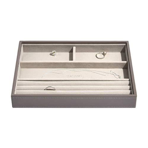 Stackers Jewellery Box | Classic Mink & Grey Velvet Ring & Armband Stacker