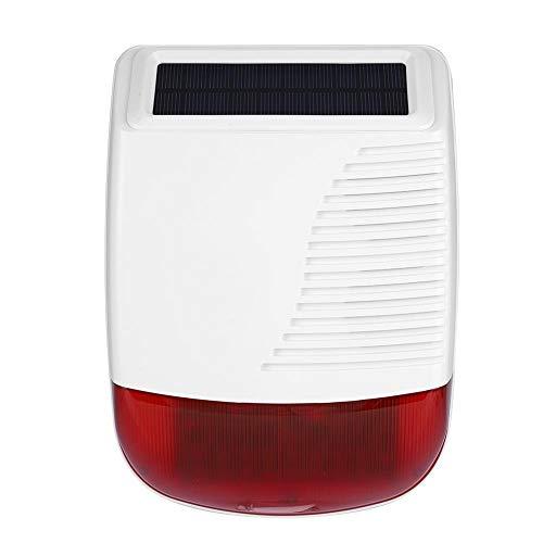 Allarme sirena stroboscopica wireless, 433 MHz solar powered standalone sound light allarme forte allarme esterno impermeabile per allarme di allarme antincendio e anti-intrusione