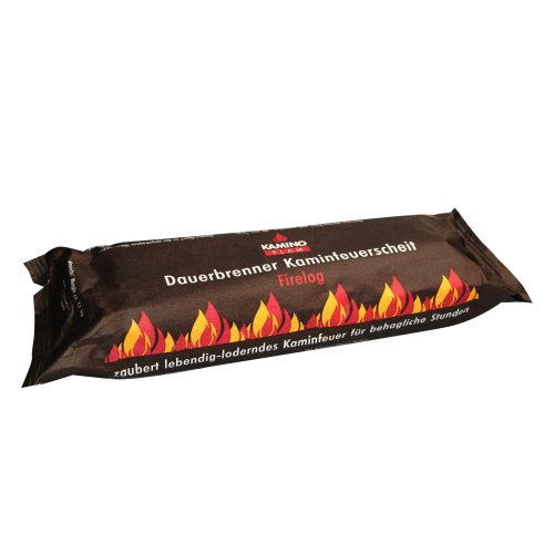20 Stück (2 Kartons á 10 Stück) KaminoFlam® - Kaminfeuer Dauerbrenner Kaminfeuerscheit, Brennstoff für Kaminofen, Holzofen, Kachelofen