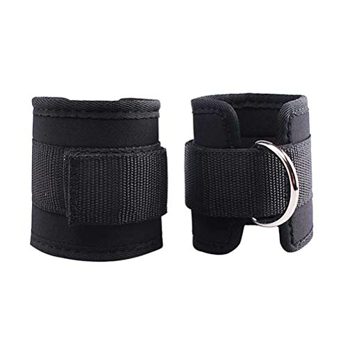 LIOOBO 2pcs Tobilleras Deportivas para Cable máquinas para Entrenamiento de piernas y glúteos en polea (Negro)