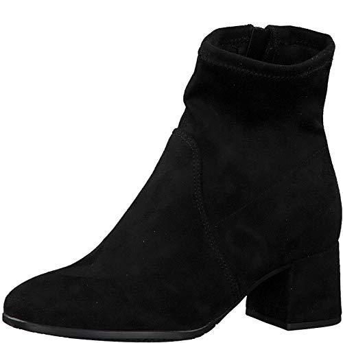 Tamaris Damen Stiefeletten, Frauen Klassische Stiefelette, elegant Feier Stiefel Boot halbstiefel Bootie reißverschluss weiblich,Black,39 EU / 5.5 UK