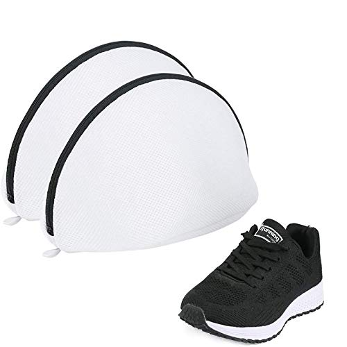 [Amazonブランド] Umi(ウミ)靴用 洗濯ネット シェル型ランドリーネット 洗濯袋2ピース スニーカー/シューズ/上履き 粗目 丈夫 耐久性 旅行 収納ネット 家庭用