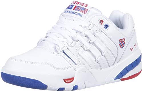 K-Swiss Damen SI-18 International Turnschuh, Weiß/klassisch blau/Band rot, 36.5 EU