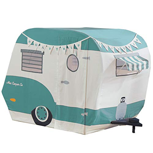 Wonder&Wise Indoor 43 x 55 x 36 Inch Childrens Kids Cotton Fabric Mini Camper Pretend Play House Tent for Toddlers Ages 3 Years Old and Older