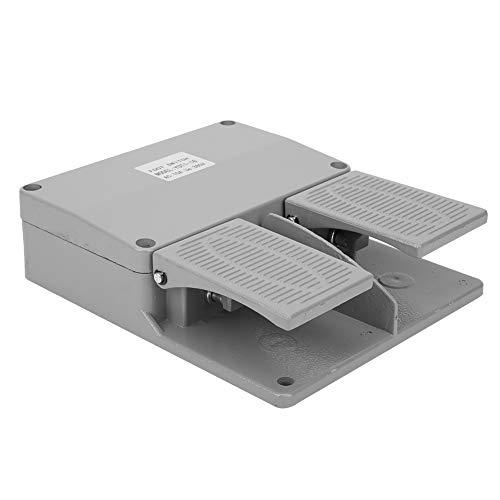 Interruptor de Pedal, Interruptor de Pie Doble, Interruptores Eléctricos YDT1‑16 de 380 VCA, con Superficie Lisa, para Kit de Pinzas de Alimentación de Máquina Eléctrica, Tornos, Taladros de Columna