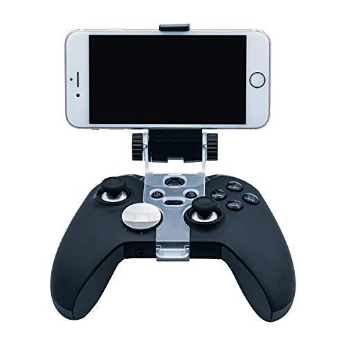 Mcbazel Abrazadera de soporte de clip de teléfono móvil ajustable para Xbox One / Xbox One S / Xbox One X / Xbox One Elite / Xbox One Elite Series 2 Controladores