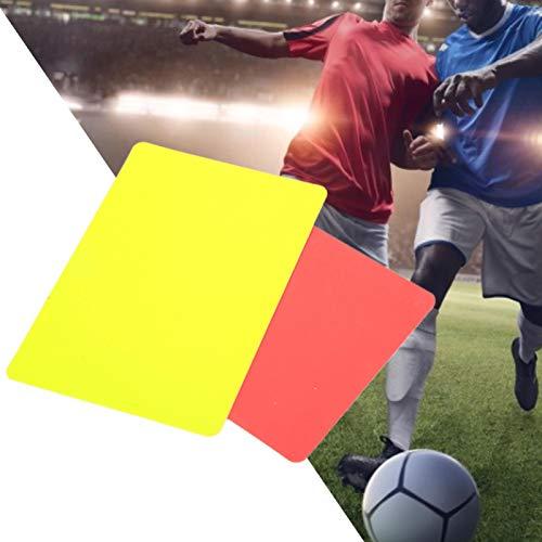 スポーツ競技のための審判レッドカード、実用的な審判ツールサッカーの赤と黄色のカード