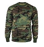 Rothco Long Sleeve T-Shirt, Woodland Camo, 2X