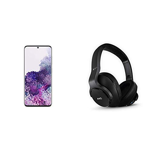 Samsung Galaxy S20 5G Factory Unlocked New Android Cell Phone US Version, 128GB, Cosmic Gray & N700NC M2 Over-Ear Foldable Wireless Headphones, Black
