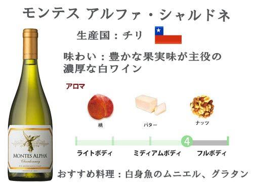 モンテス・アルファ・シャルドネ・デミ[白ワイン辛口チリ375ml]