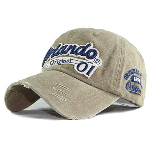 wopiaol Baumwolle gewaschen Baseballmütze Stickerei Patch Hut