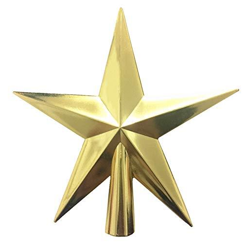 4 inch Christmas Tree Topper Glitter Star Xmas Decorative Ornament (Golden, 4 inch)