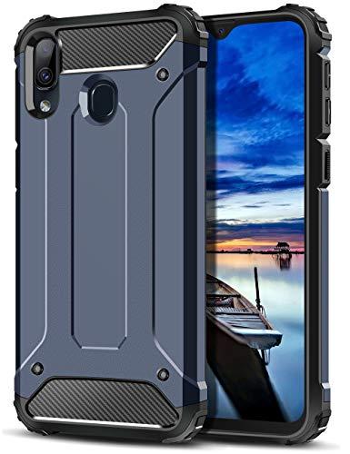 Coolden für Samsung Galaxy M20 Hülle,Premium [Armor Serie] Outdoor Stoßfest Schutzhülle Tough Silikon TPU + PC Bumper Cover Doppelschichter Handyhülle für Samsung M20 (Dunkelblau)