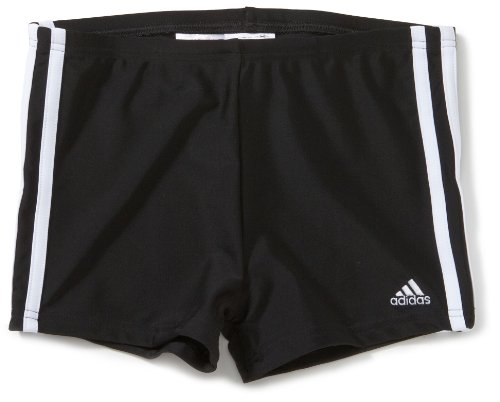 adidas Jungen Badehose 3 Stripes Authentic Boxer, black dd/white, 164, X13309