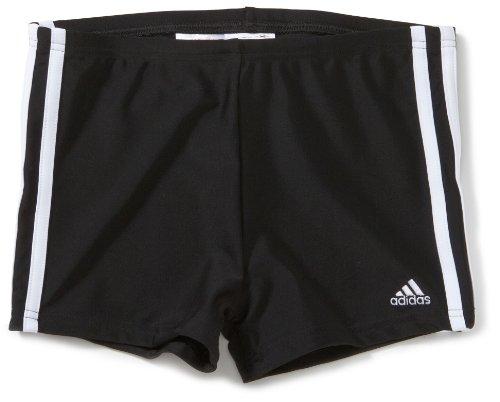adidas Jungen Badehose 3 Stripes Authentic Boxer, black dd/white, 164, X13309