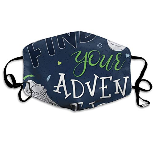 Youthful Design Find Your Adventure Quote Forest Elements and Sneakers Printing Mouth Cover voor volwassenen