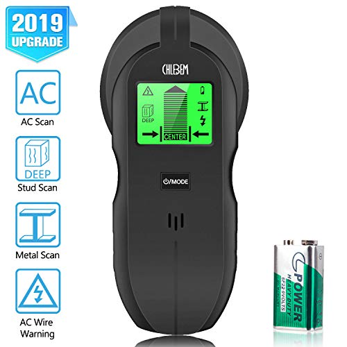 Stud Finder Wall Scanner  4 in 1 Electronic Center Finding Stud Finders Sensor Wall Finder Detector with Digital LCD Display amp Sound Warning for Wood Metal AC Wires Studs Detection ABS Medium