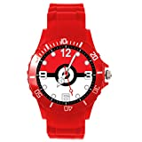 Orologio al quarzo con cinturino in silicone rosso per gli appassionati di mostri tascabili