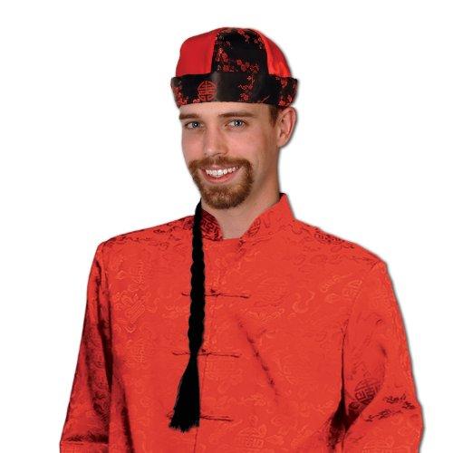 Mandarin Hat w/Braid Party Accessory (1 count) (1/Pkg)