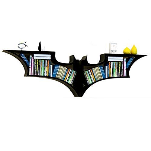 Support Mural Étagère De Style Batman Personnalisée Étagère Suspendue Au Salon Décoration D'étagère Créative Support De Rangement Mural (Color : Black, Size : 156x15x47cm)