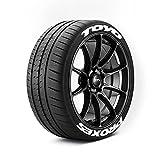 Toyo Proxes - Pegatinas para neumáticos de pared, color blanco, con 8 pegatinas, pegamento, limpiador de neumáticos y guía de instalación, fabricado en el Reino Unido