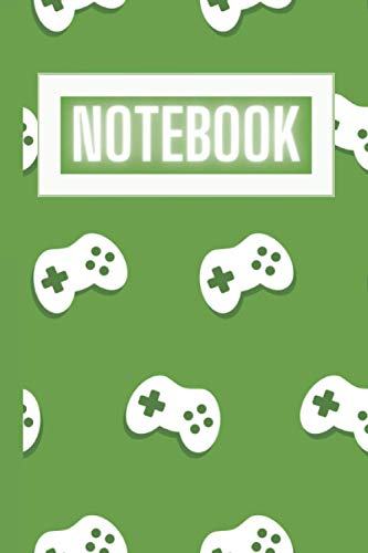 Notebook - Video Game Controller Theme - 100 Pages - 6 x 9