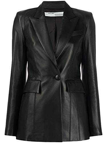 OFF-WHITE Luxury Fashion Donna OWJA024R20F990681000 Nero Pelle Giacca | Primavera-Estate 20