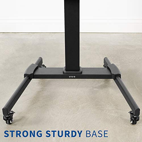 VIVO Black Mobile TV Cart for 32 to 55 inch LCD LED Plasma Flat Panel Screens, Rolling TV Stand with Wheels STAND-TV05L Photo #8