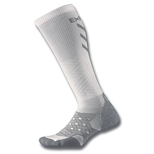 Thorlo Experia Energy Compression Over the Calf Chaussettes Blanc FR : S (Taille Fabricant : S)