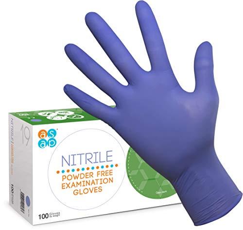 S Small M Medium L Large XL X-Large senza lattice scatola da 100 guanti senza polvere Guanti al Nitrile per uso alimentare ambidestro bianco, S