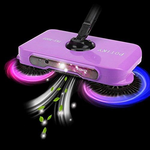 Bodenwischer , Ouneed LED Hand Push Broom Kehrmaschine Haushalt Staub Collector Boden Oberfläche Reinigung Mop (Lila)