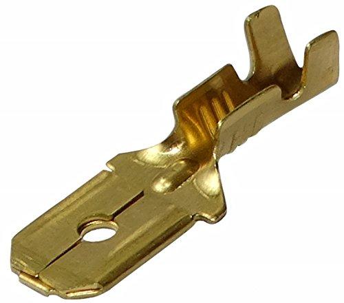 Aerzetix: 100 x Kabelschuhe Kabelschuh ( Klemme ) männlich, flach 6.3mm 0.8mm 0.5-1.5mm2