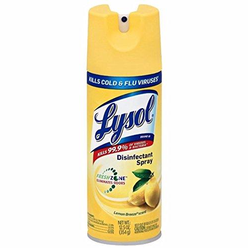 Lysol Disinfectant Spray, Lemon Breeze, 12.5 oz Pack of 9)